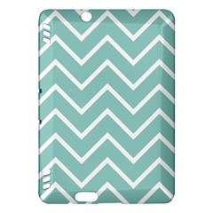 Blue And White Chevron Kindle Fire Hdx 7  Hardshell Case by zenandchic