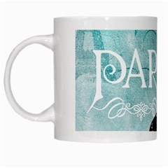 Paris Butterfly White Coffee Mug by zenandchic