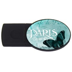 Paris Butterfly 1GB USB Flash Drive (Oval)