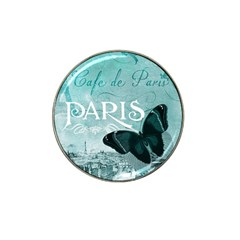 Paris Butterfly Golf Ball Marker (for Hat Clip) by zenandchic
