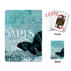 Paris Butterfly Playing Cards Single Design