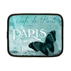 Paris Butterfly Netbook Sleeve (small) by zenandchic
