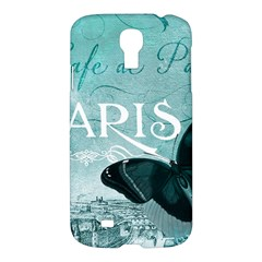 Paris Butterfly Samsung Galaxy S4 I9500/i9505 Hardshell Case by zenandchic