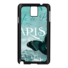 Paris Butterfly Samsung Galaxy Note 3 N9005 Case (black) by zenandchic