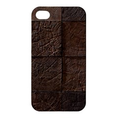 Wood Mosaic Apple Iphone 4/4s Premium Hardshell Case by chivieridesigns