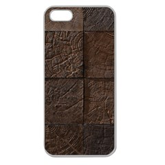 Wood Mosaic Apple Seamless Iphone 5 Case (clear) by chivieridesigns