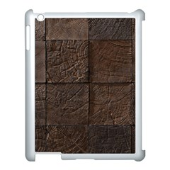 Wood Mosaic Apple Ipad 3/4 Case (white) by chivieridesigns