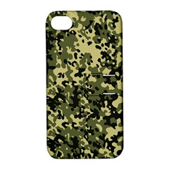 Camouflage Apple Iphone 4/4s Hardshell Case With Stand