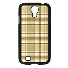 Plaid 9 Samsung Galaxy S4 I9500/ I9505 Case (black) by chivieridesigns