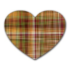 Plaid 2 Mouse Pad (heart) by chivieridesigns