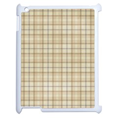 Plaid 7 Apple Ipad 2 Case (white) by chivieridesigns