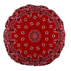Bandana 18  Premium Round Cushion  by chivieridesigns
