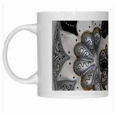 Venetian Mask White Coffee Mug by StuffOrSomething