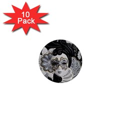 Venetian Mask 1  Mini Button Magnet (10 Pack) by StuffOrSomething