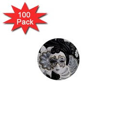 Venetian Mask 1  Mini Button Magnet (100 Pack)