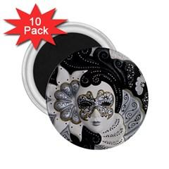Venetian Mask 2 25  Button Magnet (10 Pack) by StuffOrSomething
