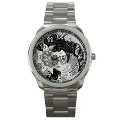 Venetian Mask Sport Metal Watch by StuffOrSomething