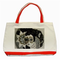 Venetian Mask Classic Tote Bag (red) by StuffOrSomething