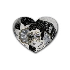 Venetian Mask Drink Coasters 4 Pack (Heart)  by StuffOrSomething