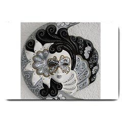 Venetian Mask Large Door Mat by StuffOrSomething