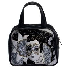 Venetian Mask Classic Handbag (Two Sides) by StuffOrSomething