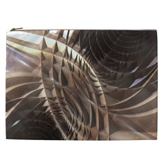 Copper Metallic Cosmetic Bag (xxl) by CrypticFragmentsDesign