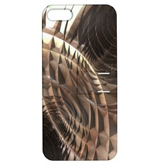 Copper Metallic Apple iPhone 5 Hardshell Case with Stand by CrypticFragmentsDesign