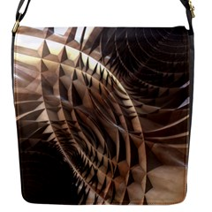 Copper Metallic Flap Closure Messenger Bag (s) by CrypticFragmentsDesign