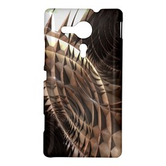 Copper Metallic Texture Abstract Sony Xperia Sp (M35H) Hardshell Case by CrypticFragmentsDesign