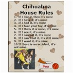 Chihuahua House Rule unstretched canvas 11 x 14 - Canvas 11  x 14