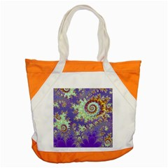 Sea Shell Spiral, Abstract Violet Cyan Stars Accent Tote Bag by DianeClancy