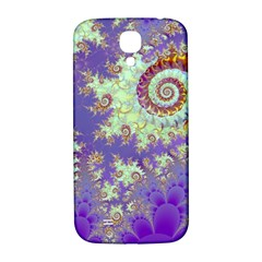 Sea Shell Spiral, Abstract Violet Cyan Stars Samsung Galaxy S4 I9500/i9505  Hardshell Back Case by DianeClancy