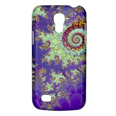 Sea Shell Spiral, Abstract Violet Cyan Stars Samsung Galaxy S4 Mini (gt I9190) Hardshell Case  by DianeClancy