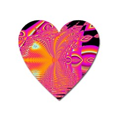 Magenta Boardwalk Carnival, Abstract Ocean Shimmer Magnet (heart) by DianeClancy