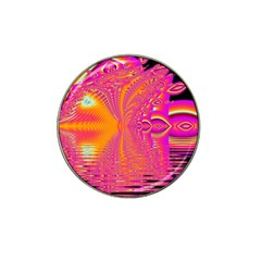 Magenta Boardwalk Carnival, Abstract Ocean Shimmer Golf Ball Marker 4 Pack (for Hat Clip) by DianeClancy