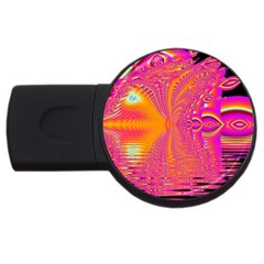 Magenta Boardwalk Carnival, Abstract Ocean Shimmer 4gb Usb Flash Drive (round) by DianeClancy