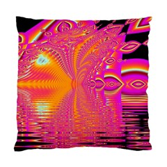 Magenta Boardwalk Carnival, Abstract Ocean Shimmer Cushion Case (single Sided)  by DianeClancy