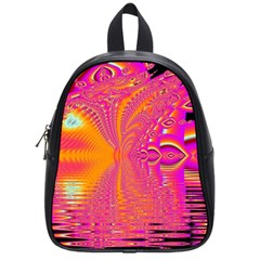 Magenta Boardwalk Carnival, Abstract Ocean Shimmer School Bag (small) by DianeClancy