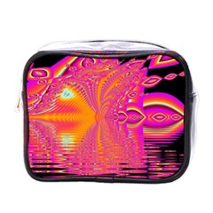 Magenta Boardwalk Carnival, Abstract Ocean Shimmer Mini Travel Toiletry Bag (one Side) by DianeClancy