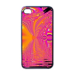 Magenta Boardwalk Carnival, Abstract Ocean Shimmer Apple Iphone 4 Case (black) by DianeClancy