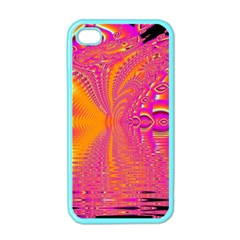 Magenta Boardwalk Carnival, Abstract Ocean Shimmer Apple Iphone 4 Case (color) by DianeClancy