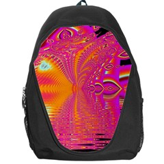 Magenta Boardwalk Carnival, Abstract Ocean Shimmer Backpack Bag by DianeClancy
