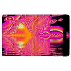 Magenta Boardwalk Carnival, Abstract Ocean Shimmer Apple Ipad 3/4 Flip Case by DianeClancy