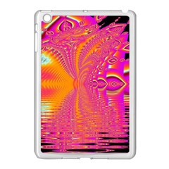 Magenta Boardwalk Carnival, Abstract Ocean Shimmer Apple Ipad Mini Case (white) by DianeClancy