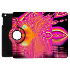 Magenta Boardwalk Carnival, Abstract Ocean Shimmer Apple Ipad Mini Flip 360 Case by DianeClancy