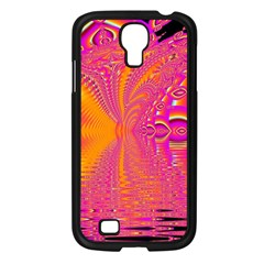 Magenta Boardwalk Carnival, Abstract Ocean Shimmer Samsung Galaxy S4 I9500/ I9505 Case (black) by DianeClancy