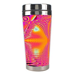 Magenta Boardwalk Carnival, Abstract Ocean Shimmer Stainless Steel Travel Tumbler by DianeClancy