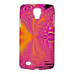 Magenta Boardwalk Carnival, Abstract Ocean Shimmer Samsung Galaxy S4 Active (i9295) Hardshell Case by DianeClancy