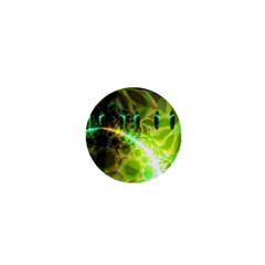 Dawn Of Time, Abstract Lime & Gold Emerge 1  Mini Button Magnet by DianeClancy