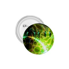 Dawn Of Time, Abstract Lime & Gold Emerge 1 75  Button by DianeClancy